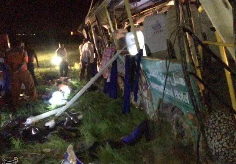 علت حادثه مرگبار اتوبوس در لرستان اعلام شد؛ خواب آلودگی راننده
