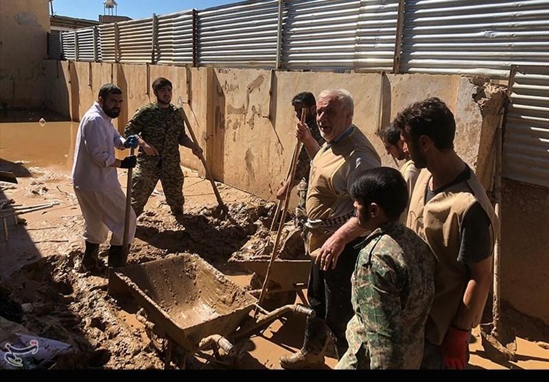 جانشین بسیج سازندگی: 4000 جهادگر در مناطق سیل زده جنوب حضور یافتند