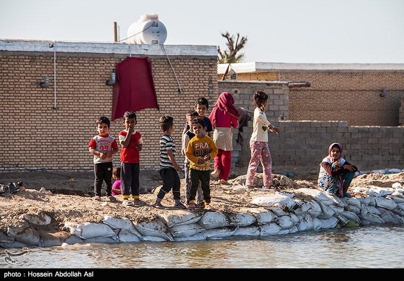 مناطق سیلزده خوزستان روی ریل بازسازی قرار دارد
