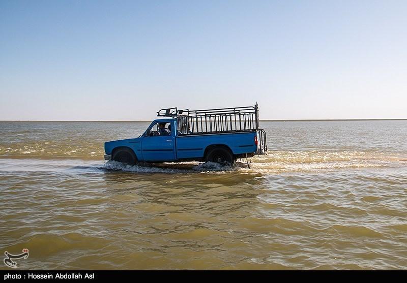 اهواز| کاهش دبی آب در شهرستان شادگان؛ تمامی راههای مواصلاتی باز است