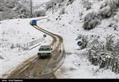 بارش برف و باران در جادههای 4 استان