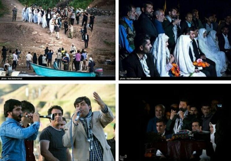 متفاوتترین جشن عروسی سال ایران؛ لحظات شاد عروس و دامادهای سیلزده + فیلم