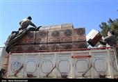 20 کامیون کمکهای کمیته امداد فارس به خوزستان اعزام شد