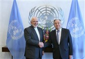 Iran's FM, UN Chief Discuss US Illegal Measures