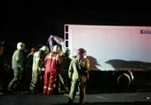 تصادف مرگبار کامیونت با تانکر در جاده خاوران + تصاویر