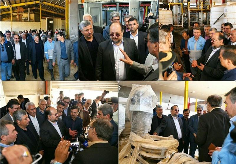 وزیر کار از واحدهای خسارتدیده شهرک صنعتی آققلا بازدید کرد
