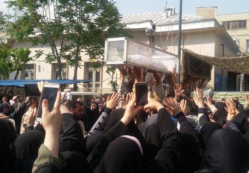 وداع بی نظیر مردم با پیکر مطهر شهید مجید قربانخانی+عکس و فیلم