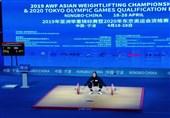وزنهبرداری زنان آسیا| حسینی در جایگاه ششم ایستاد