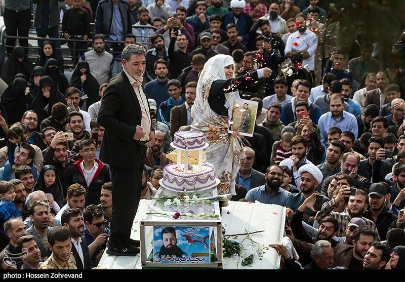 روایت جشن دامادی شهید مجید قربانخانی بر بالای پیکر او +عکس و فیلم