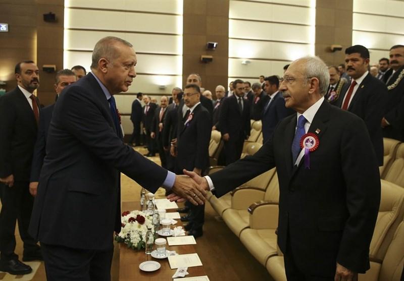 وقتی دستدادن اردوغان و کلچدار اوغلو خبرساز میشود