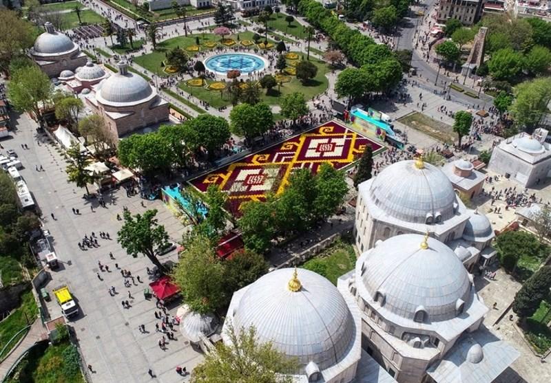 فرش لاله در استانبول ترکیه + عکس
