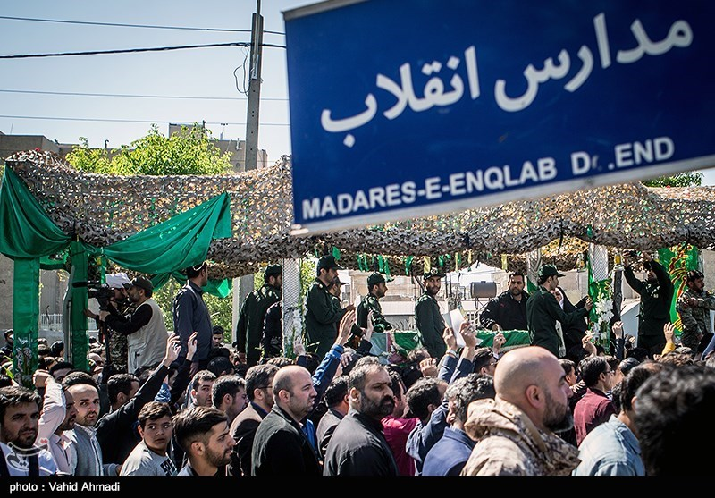 تشییع پیکر شهید مدافع حرم مجید قربانخانی