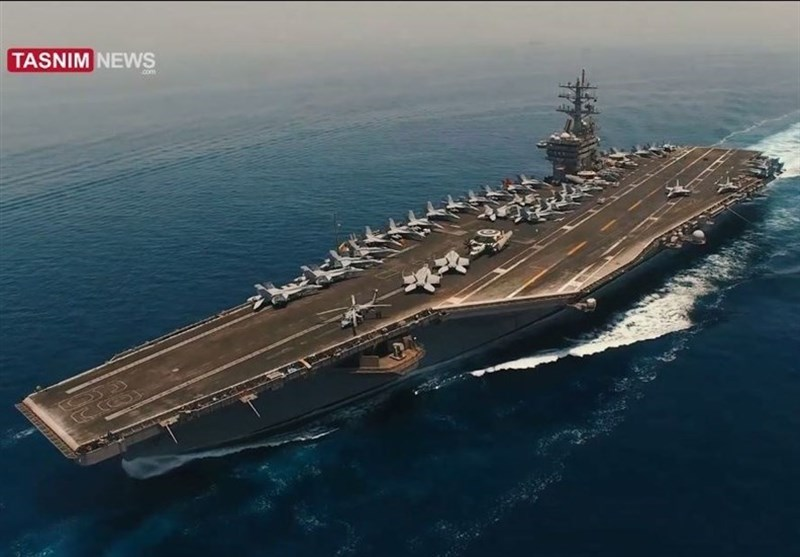IRGC HD Video Shows US Aircraft Carrier in Persian Gulf