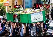 پیکر شهید مدافع حرم در کاشان تشییع شد+تصاویر
