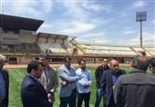بازدید از ورزشگاه انقلاب کرج برای برگزاری جشن قهرمانی گلگهر سیرجان