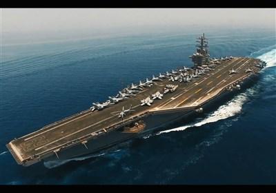 رصد ناوگروه آمریکایی در خلیج فارس توسط سپاه