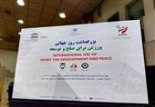 برگزاری مراسم بزرگداشت روز جهانی ورزش در مسیر صلح و توسعه در غیاب سلطانیفر و صالحیامیری