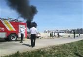 مانور حوادث ترافیکی در اردبیل برگزار شد؛ لغو پرواز بالگرد به دلیل نجات جان یک مادر