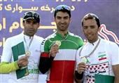 قهرمانی فرزاد خدایاری در مرحله اول لیگ دوچرخهسواری کوهستان