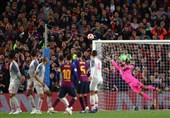 فوتبال جهان| تقلب 3 متری مسی برای گلزنی مقابل لیورپول! + عکس