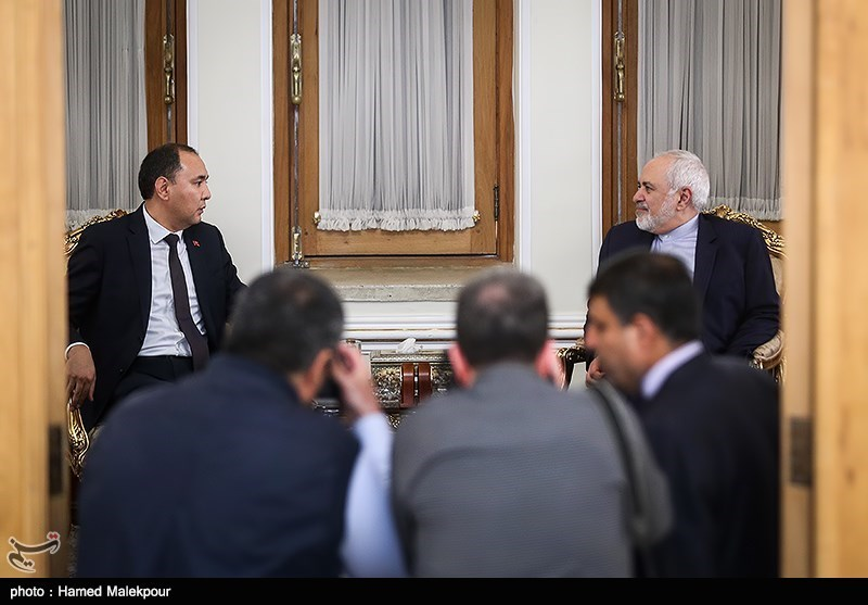 دیدار نوران نیاز علیاف معاون وزیر امور خارجه قرقیزستان با محمدجواد ظریف وزیر امور خارجه