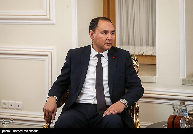 نوران نیاز علیاف معاون وزیر امور خارجه قرقیزستان در دیدار با محمدجواد ظریف وزیر امور خارجه