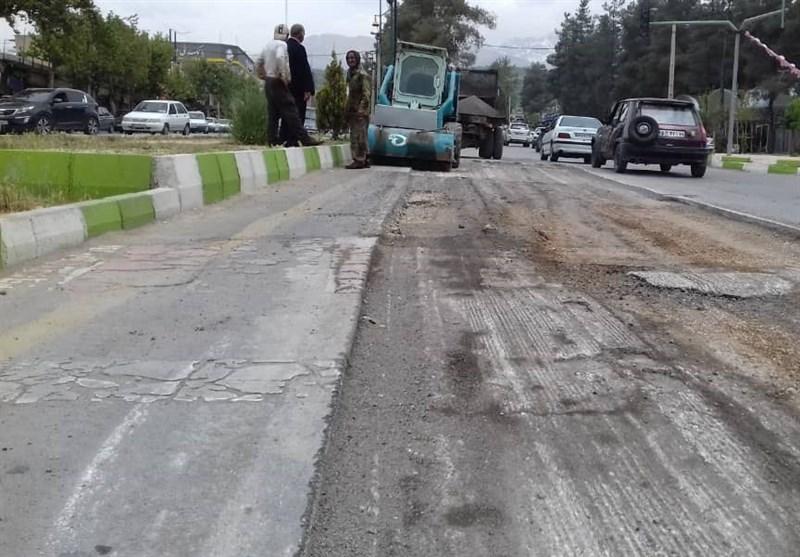 وضعیت آسفالت معابر شهر رشت اصلاح میشود