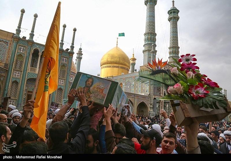 تشییع پیکر دو شهید مدافع حرم - قم