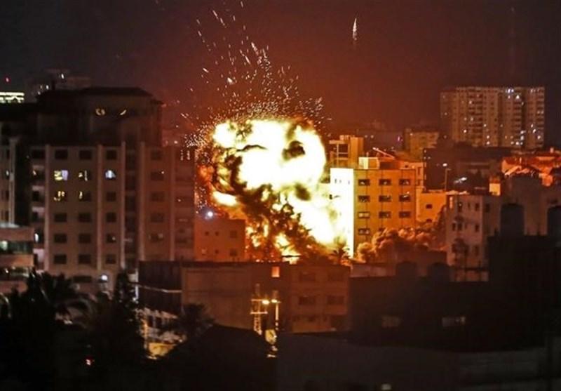حمله هوایی رژیم صهیونیستی به نوار غزه و مقابله پدافندی مقاومت