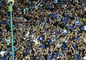 حاشیه دیدار استقلال - سپیدرود| طرح موزاییک هواداران برای قدردانی از حیدری و شعار علیه وزارت ورزش + عکس