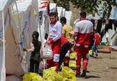 نیروهای امدادی هلالاحمر همچنان در حال خدماترسانی به زلزلهزدگان هستند