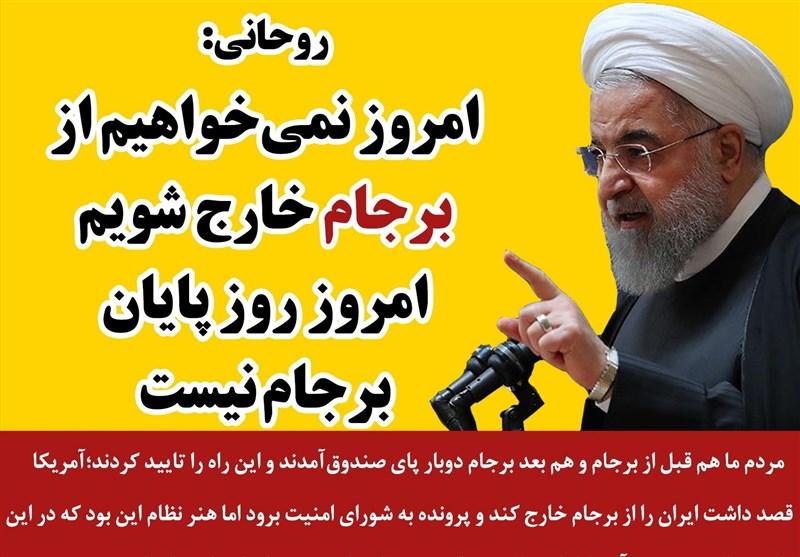 فتوتیتر/روحانی: امروز روز گام جدید در برجام و طبق برجام است
