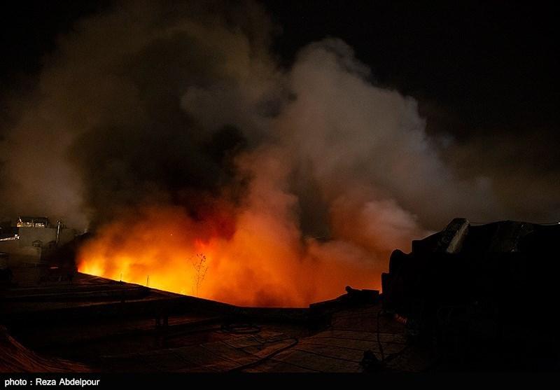 آتش سوزی سینما 5 بعدی پارک ساحلی اهواز بدون خسارت جانی مهار شد