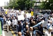 راهپیمایی نمازگزاران تهرانی در حمایت از بیانیه شورای عالی امنیت ملی