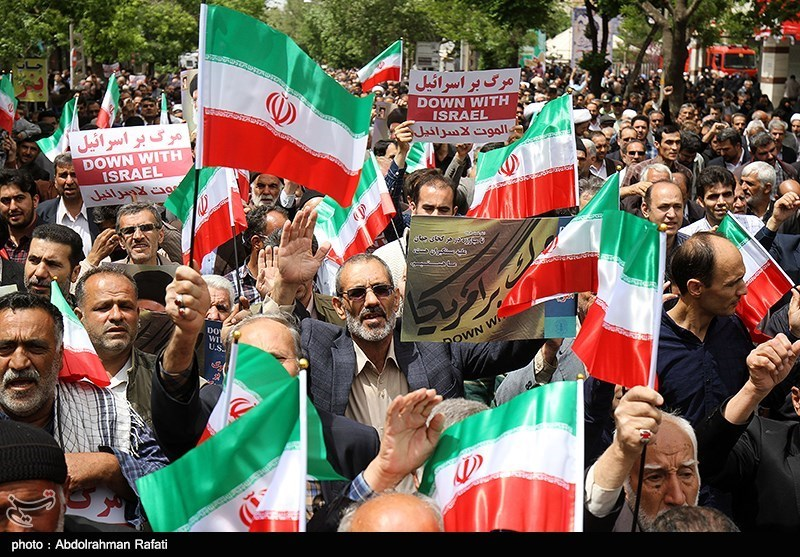 Iranian Protesters Support Tehran's Move on Halting Certain JCPOA Commitments (+Photos)