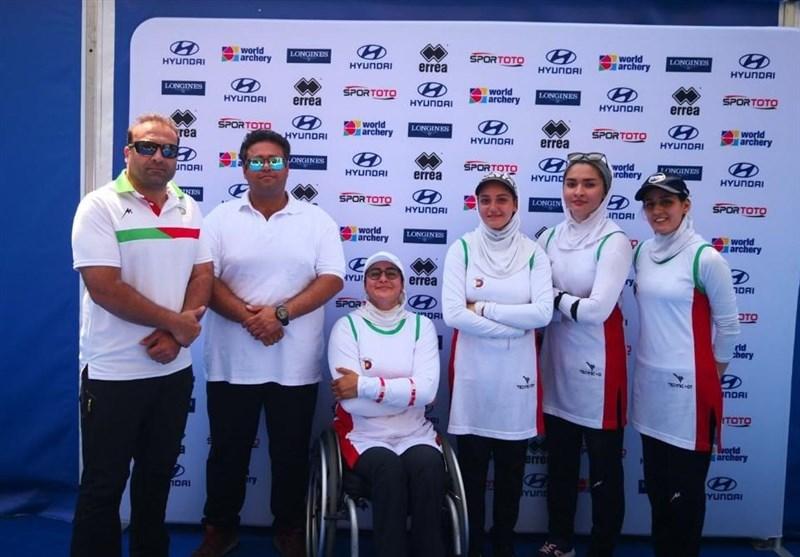 کاپ جهانی تیراندازی با کمان|برای نخستین بار؛ تیم ریکرو بانوان ایران در رده چهارم قرار گرفت