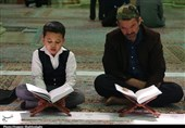ترتیل جزء 14 قرآن با صدای «منشاوی، سبزعلی و خلیلالحصری»