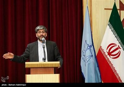 سخنرانی ناصر عتباتی رئیس کل جدید دادگستری استان اردبیل