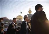 حضور سفیر کره جنوبی در حرم امام رضا(ع) + تصاویر