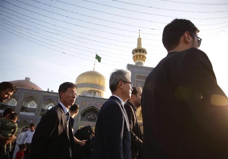 حضور سفیر کره جنوبی در حرم امام رضا (ع) + تصاویر
