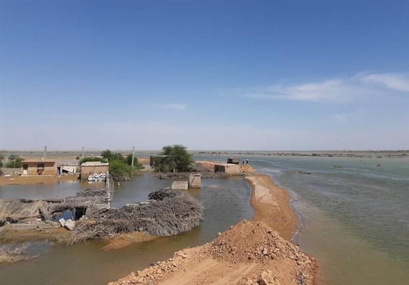 اهواز| عملیات احداث سیلبند شاکریه دشتآزادگان تا 48 ساعت آینده تمام میشود+تصویر