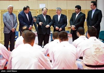 بازدید وزیر تعاون،کار و رفاه اجتماعی از اردوی تیم ملی کاراته