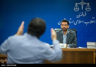 قاضی مسعودی مقام در دادگاه رسیدگی به اتهامات محمدهادی رضوی و ۳۰ متهم دیگر پرونده بانک سرمایه