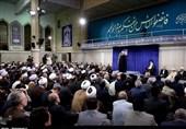 شرح حدیث نقش بسته بر حسینیه امام خمینی در دیدار مسئولان با امام خامنهای
