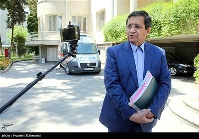 عبدالناصر همتی رئیس کل بانک مرکزی در حاشیه جلسه هیئت دولت