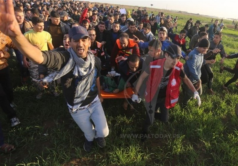 47 إصابة بالرصاص خلال قمع الاحتلال للمسیرة الملیونیة شرق قطاع غزة