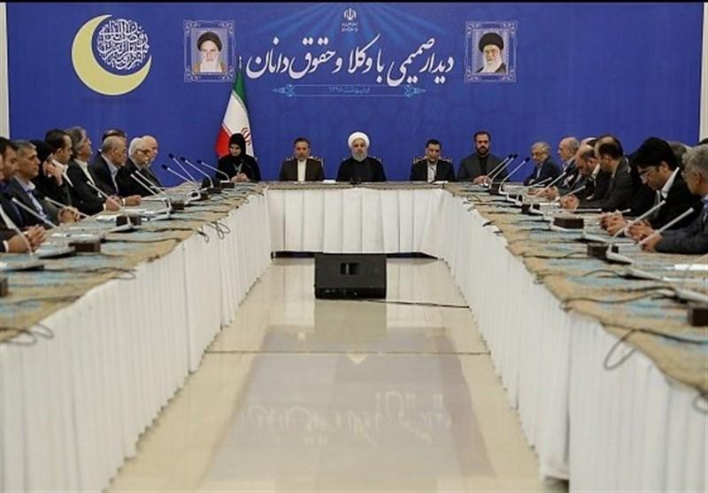 روحانی: حکومت جمهوری اسلامی ایران حکومت قانون است