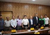 جلسه هماهنگی پیش از بازی نفت مسجدسلیمان و ذوب آهن اصفهان + تصویر