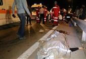 2 کشته و 6 مصدوم بر اثر تصادف در اتوبان تهران ـ قم + تصاویر