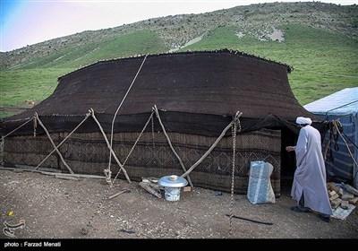 """""""سیاهچادر"""" نمادی از فرهنگ و تمدن عشایر / آمیزهای از ذوق و هنر و صنعت که کمرنگ شده است"""